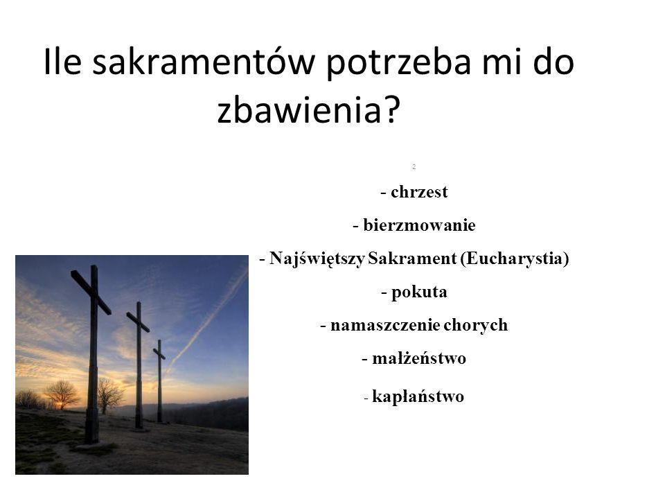 Podnieśmy poprzeczkę: A) Sakramentami wtajemniczenia chrześcijańskiego.