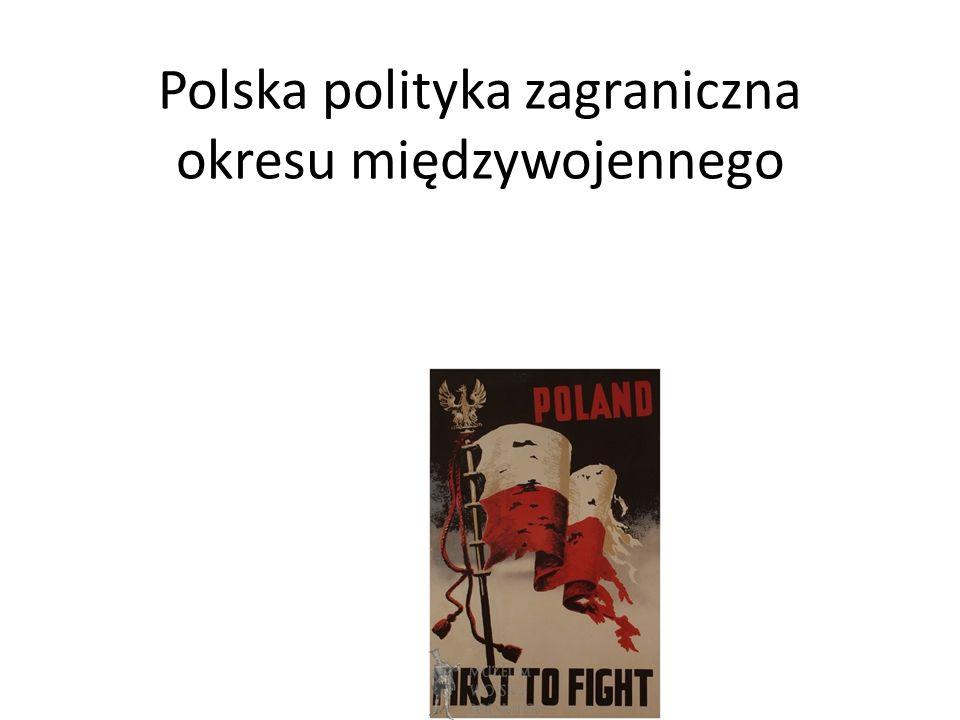 Polska polityka zagraniczna okresu międzywojennego
