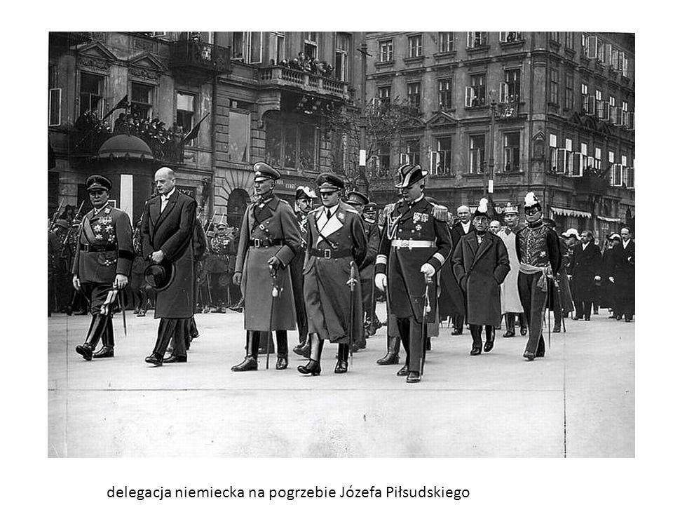 delegacja niemiecka na pogrzebie Józefa Piłsudskiego