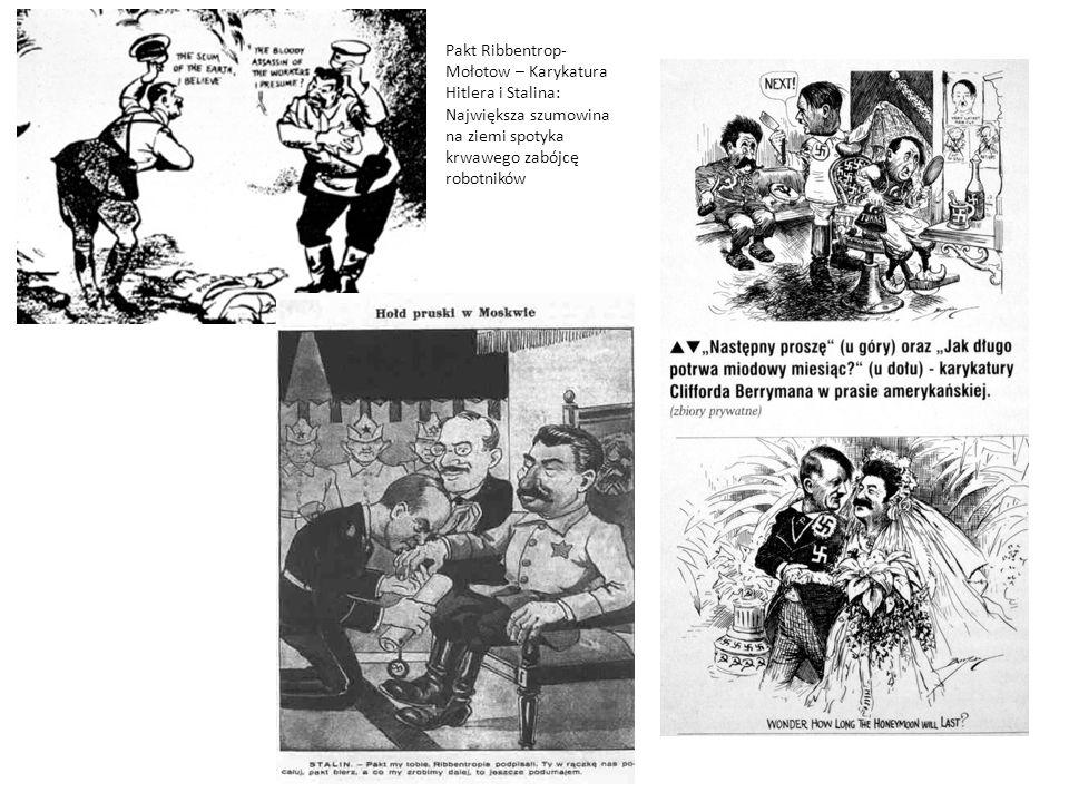 Pakt Ribbentrop- Mołotow – Karykatura Hitlera i Stalina: Największa szumowina na ziemi spotyka krwawego zabójcę robotników
