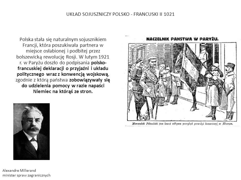 16 kwietnia 1922 Niemcy i Rosja Radziecka zawarły w Rapallo układukład na mocy którego nawiązały stosunki dyplomatyczne i współpracę ekonomiczno-wojskową.