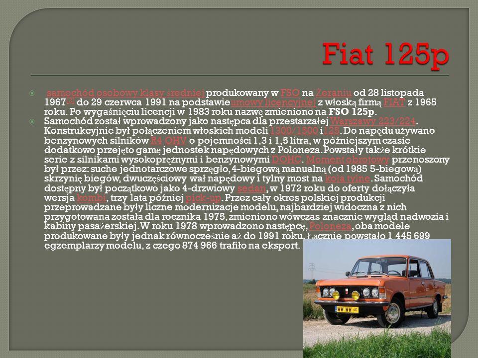  samochód osobowy klasy ś redniej produkowany w FSO na Ż eraniu od 28 listopada 1967 [2] do 29 czerwca 1991 na podstawieumowy licencyjnej z w ł osk ą