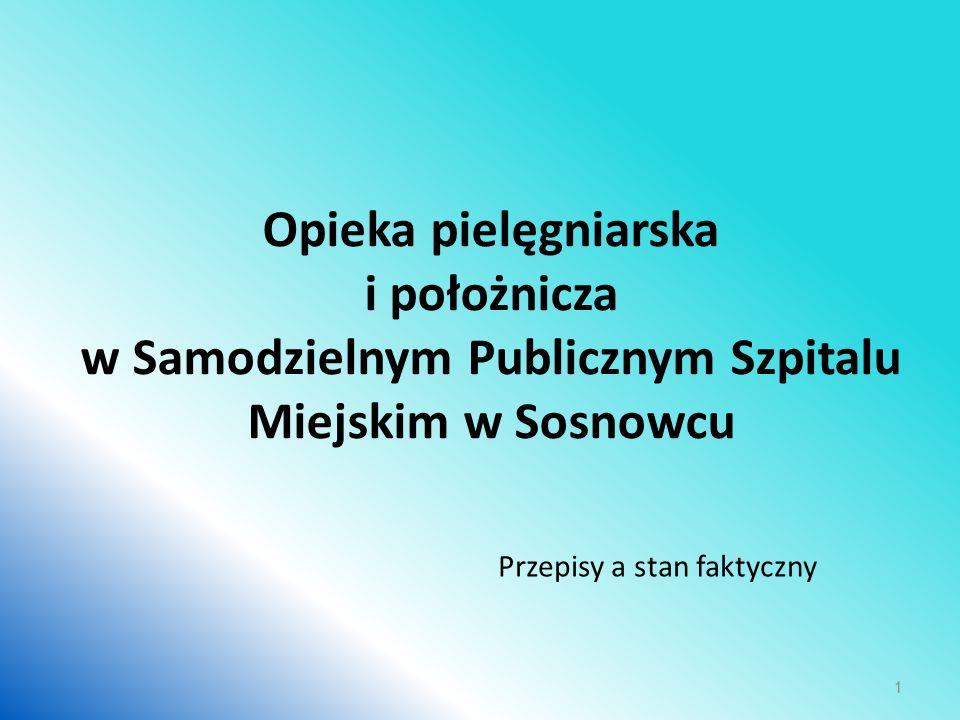 Opieka pielęgniarska i położnicza w Samodzielnym Publicznym Szpitalu Miejskim w Sosnowcu Przepisy a stan faktyczny 1
