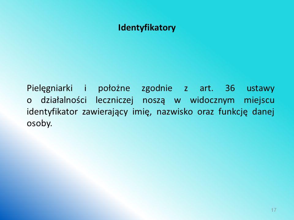 Identyfikatory Pielęgniarki i położne zgodnie z art.