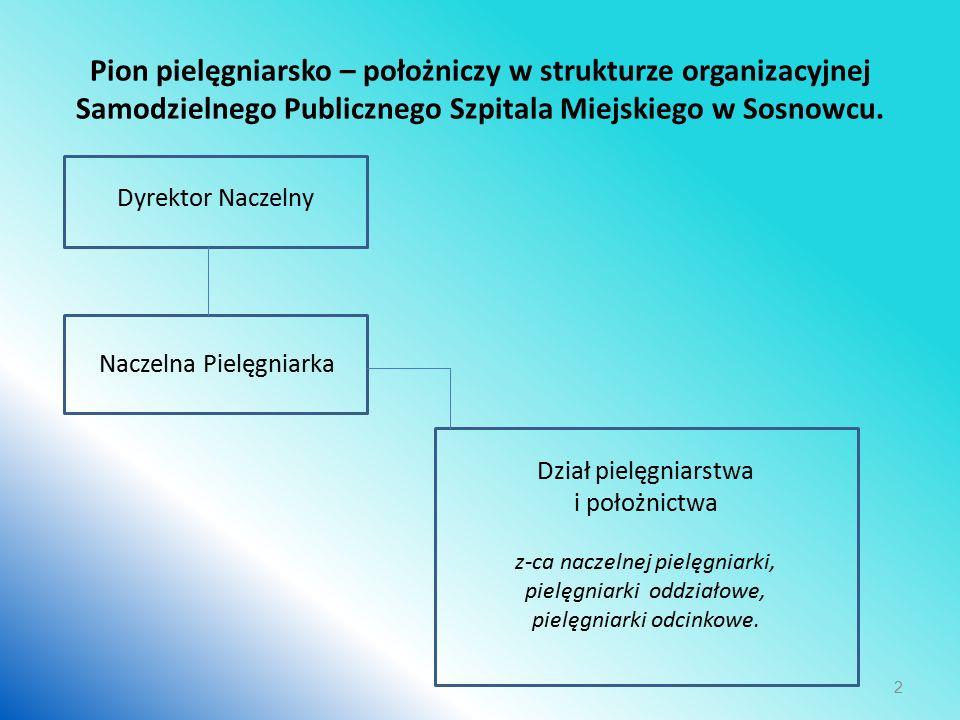 Pion pielęgniarsko – położniczy w strukturze organizacyjnej Samodzielnego Publicznego Szpitala Miejskiego w Sosnowcu.