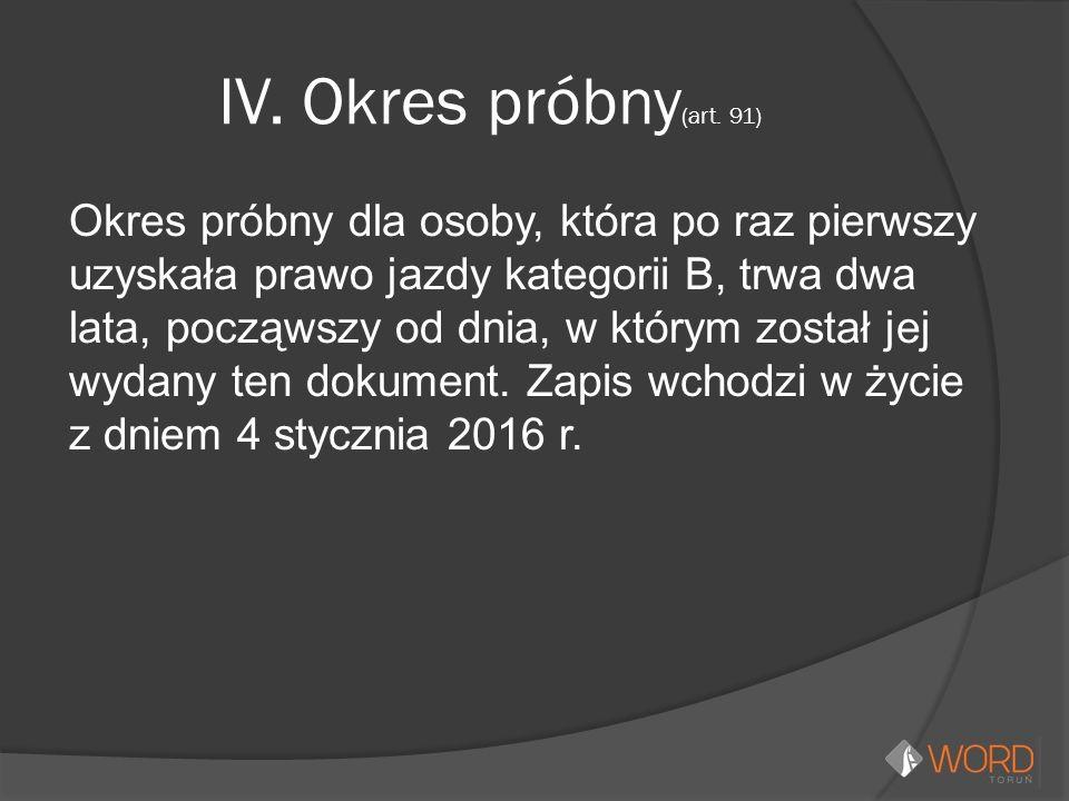 IV. Okres próbny (art.