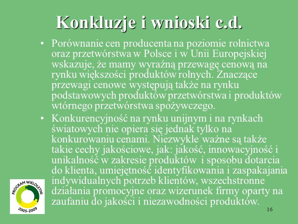 16 Konkluzje i wnioski c.d.