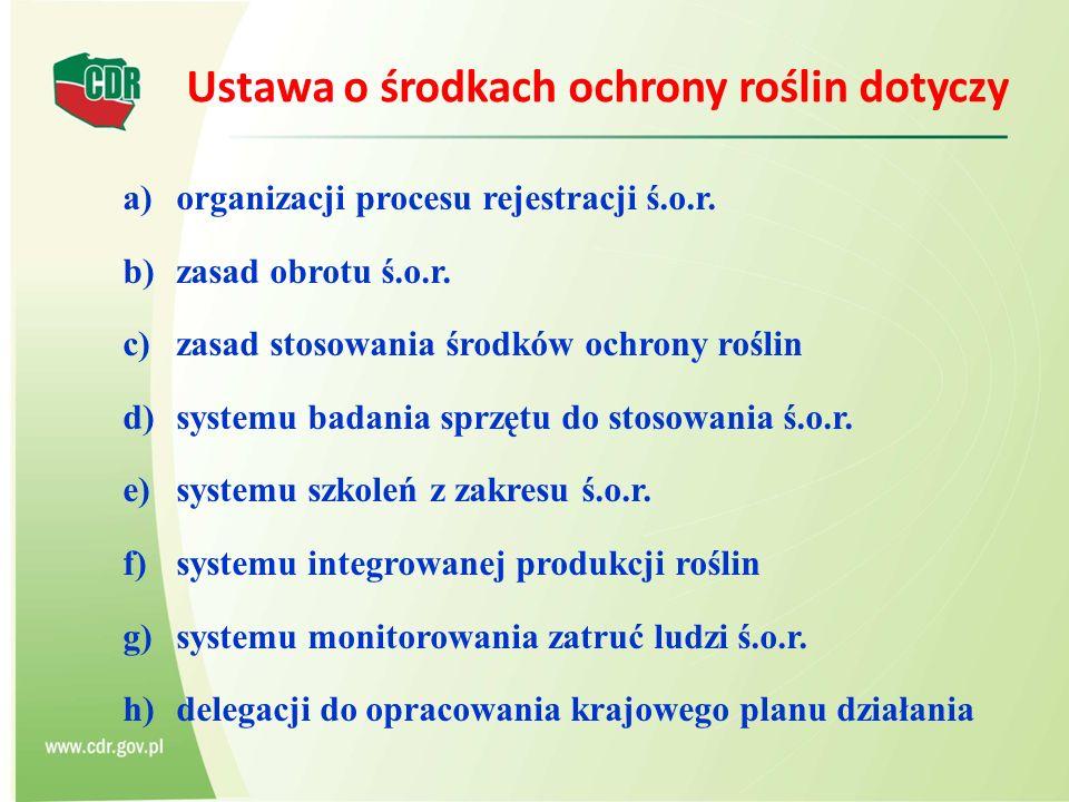 a)organizacji procesu rejestracji ś.o.r. b)zasad obrotu ś.o.r.