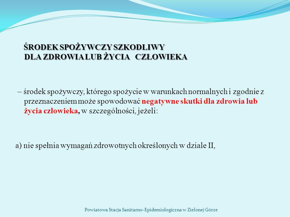 Ostrzeżenia publiczne dotyczące żywności http://gis.gov.pl/ Powiatowa Stacja Sanitarno-Epidemiologiczna w Zielonej Górze