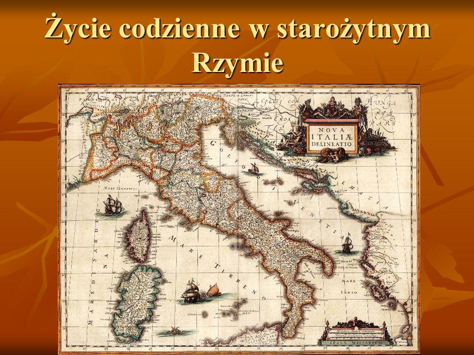 Życie codzienne w starożytnym Rzymie