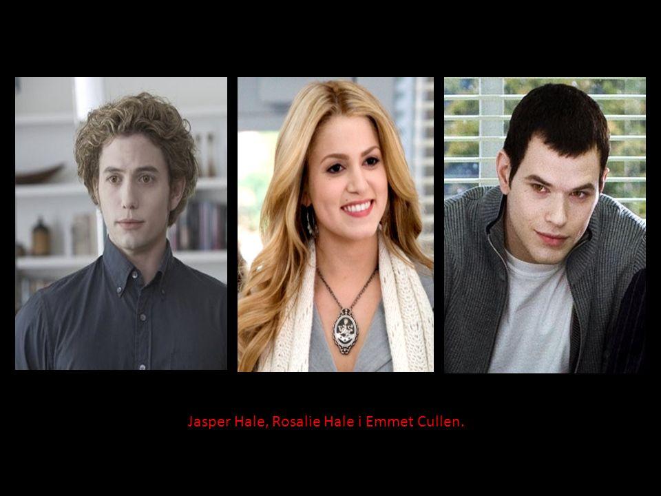 Jasper Hale, Rosalie Hale i Emmet Cullen.