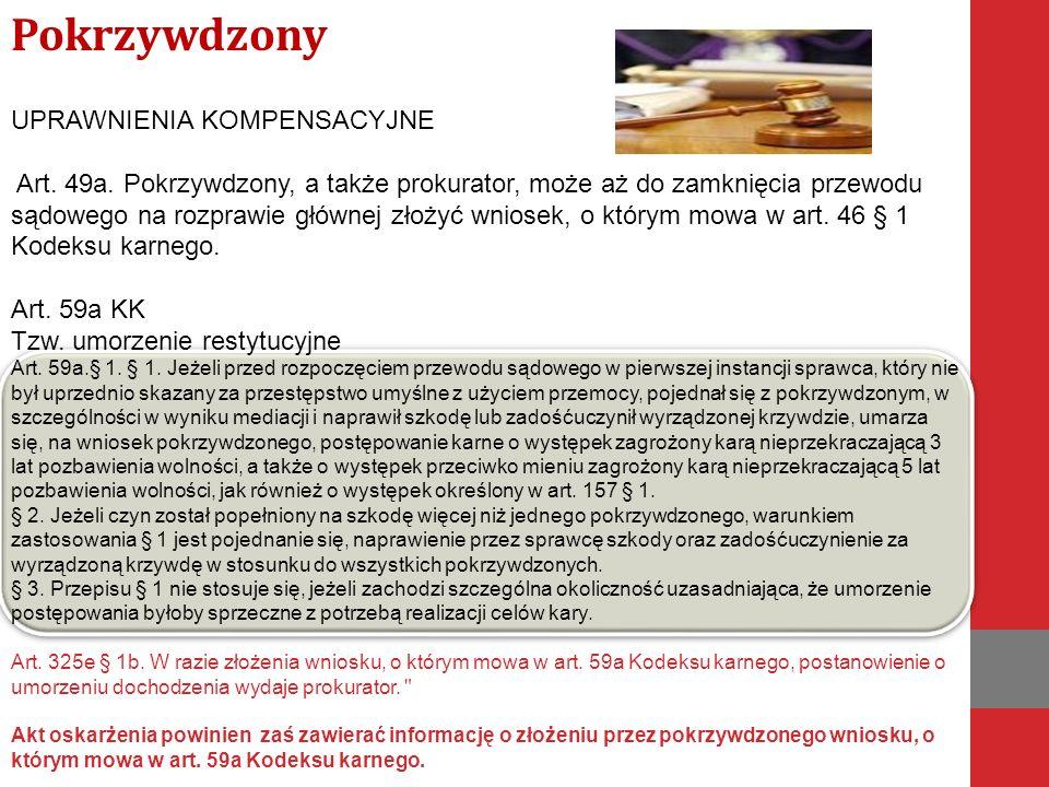 UPRAWNIENIA KOMPENSACYJNE Art. 49a.