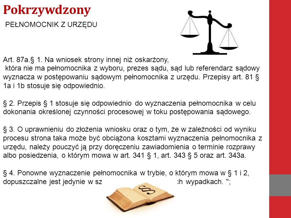 PEŁNOMOCNIK Z URZĘDU Art. 87a.§ 1.