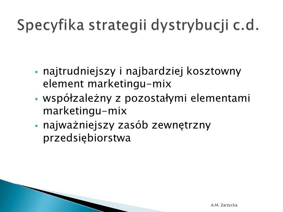 A.M. Zarzycka  najtrudniejszy i najbardziej kosztowny element marketingu-mix  współzależny z pozostałymi elementami marketingu-mix  najważniejszy z