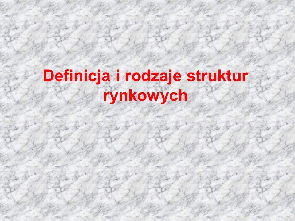 Definicja i rodzaje struktur rynkowych