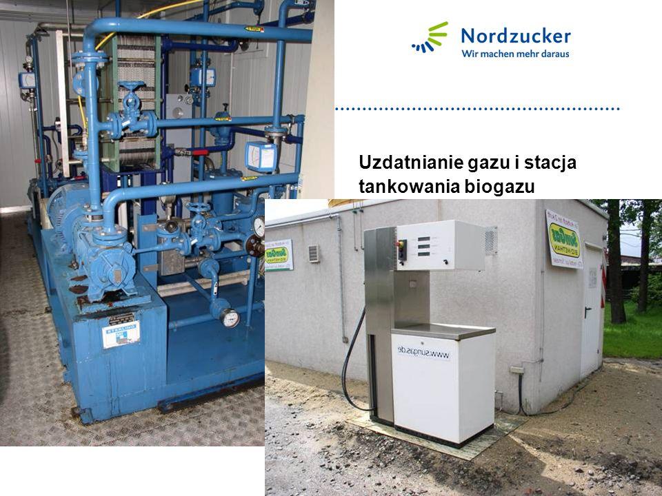 Uzdatnianie gazu i stacja tankowania biogazu