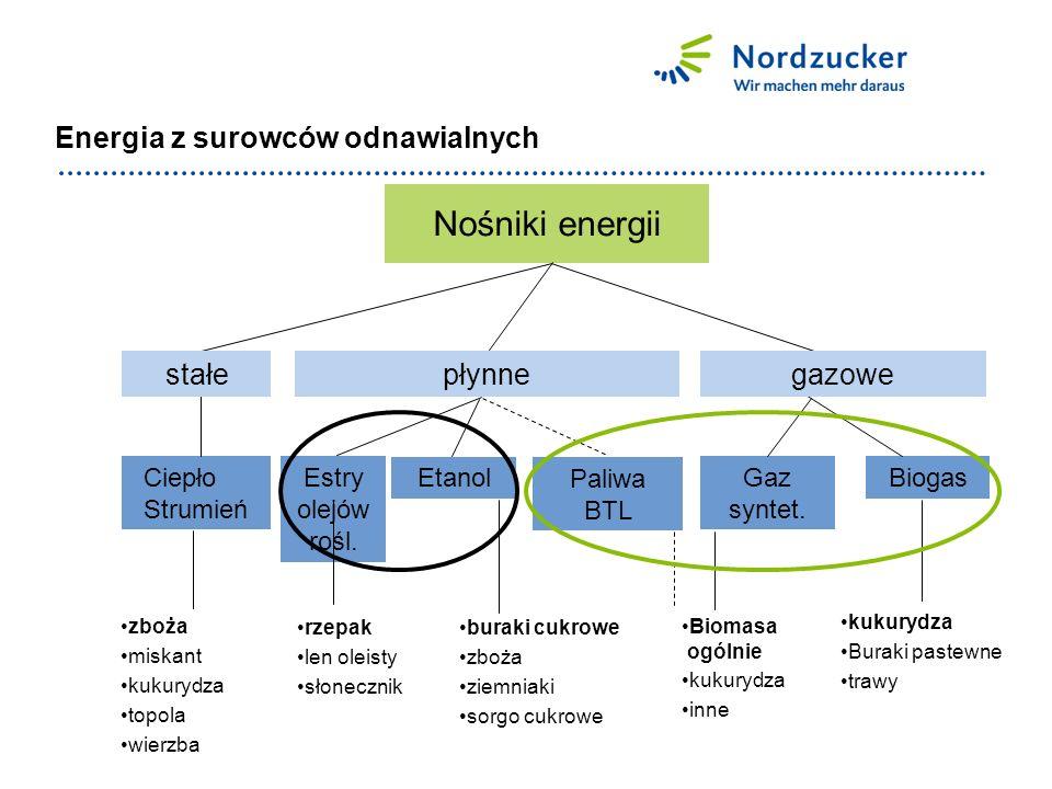 Koszty produkcji bioetanolu w porównaniu międzynarodowym w €/m³ Koszty produkcji w €/m³ Pod względem kosztów produkcji etanol z buraków nie może konkurować z etanolem z trzciny.