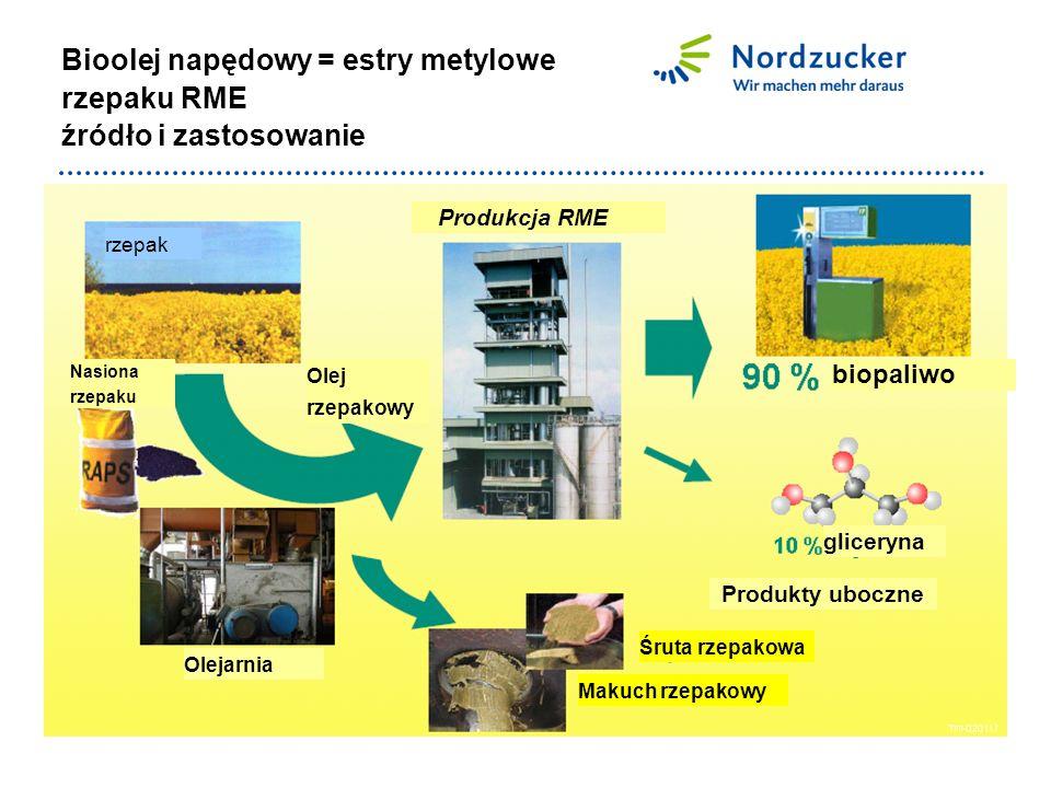 ausgewählte Vergleichsparameter für Biokraftstoffe Dlaczego bioenergia.