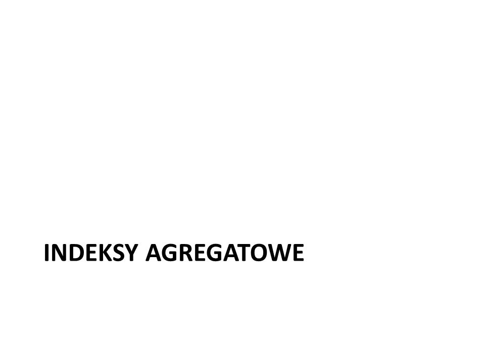 INDEKSY AGREGATOWE