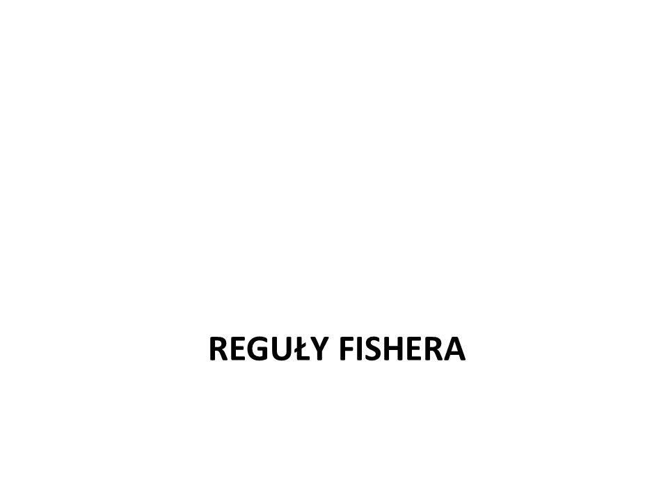 REGUŁY FISHERA