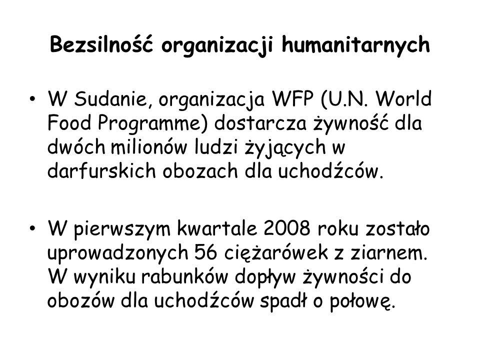 Bezsilność organizacji humanitarnych W Sudanie, organizacja WFP (U.N.