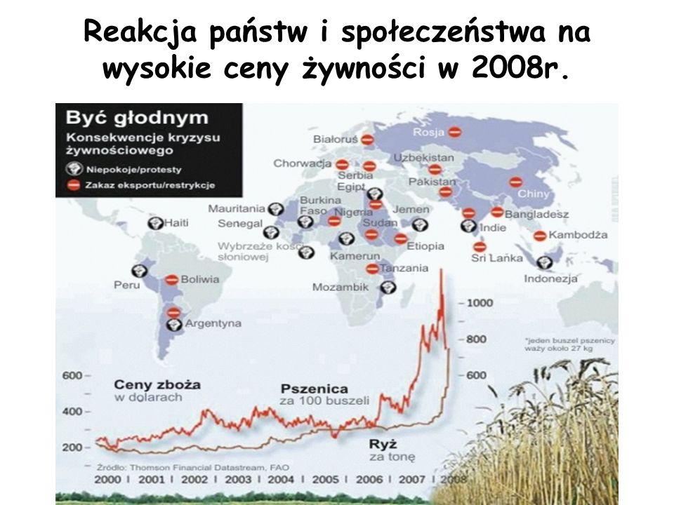 Reakcja państw i społeczeństwa na wysokie ceny żywności w 2008r.
