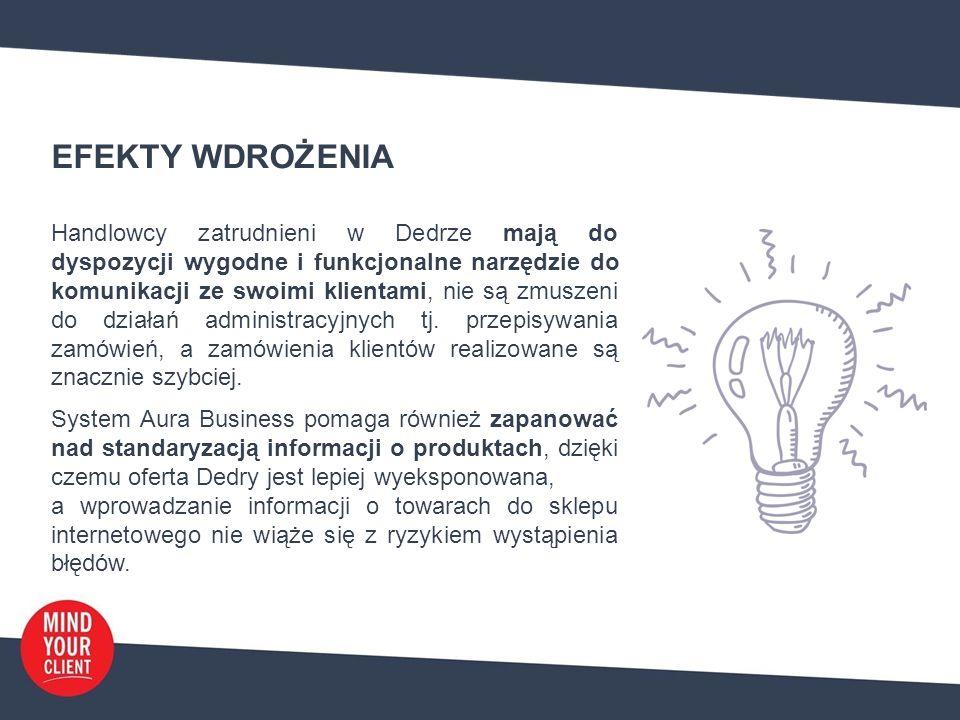 """WDROŻENIE – OPINIA KLIENTA """"Jako firma skupiamy się na obsłudze sprzedaży szerokiego wachlarza produktów do Klientów z kanału B2B, w związku z tym szukaliśmy narzędzia usprawniającego pracę i komunikację."""