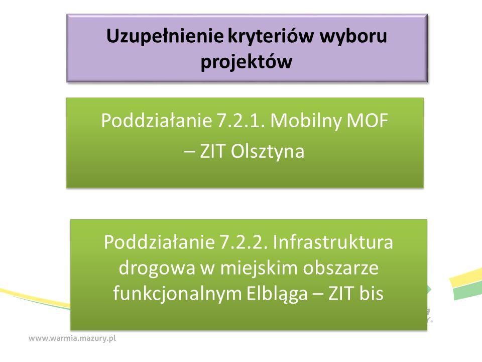 Zasięg oddziaływania projektu na obszarze ZIT Nazwa Oceniany będzie zasięg terytorialny oddziaływania projektu: Projekt oddziałuje na jedną gminę: 0 pkt Projekt oddziałuje na więcej niż jedną gminę: 2 pkt Projekt oddziałuje na cały obszar ZIT: 4 pkt Definicja Kryterium punktowe – przyznanie 0 punktów nie dyskwalifikuje z możliwości uzyskania dofinansowania.