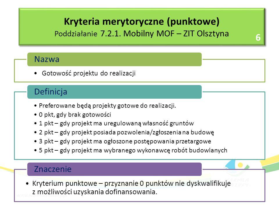 Gotowość projektu do realizacji Nazwa Preferowane będą projekty gotowe do realizacji.