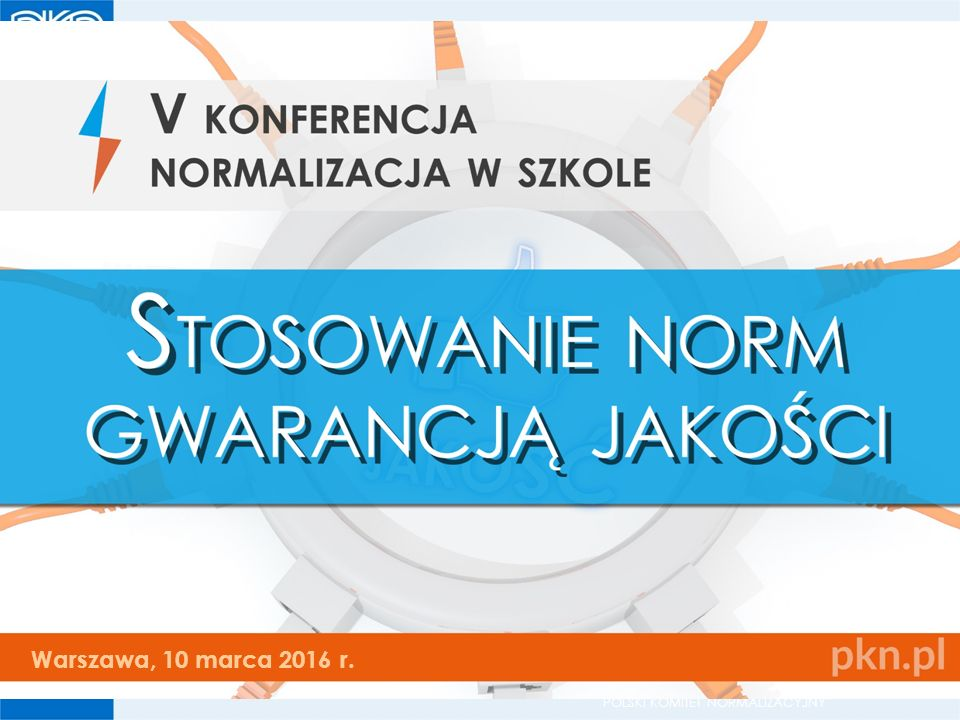 """POLSKI KOMITET NORMALIZACYJNY I miejsce w kategorii """"esej Patrycja Plucińska uczennica III kl."""