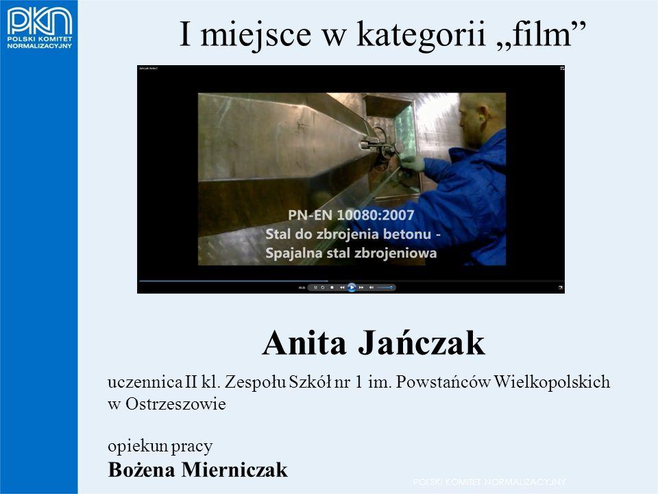 """POLSKI KOMITET NORMALIZACYJNY I miejsce w kategorii """"film uczennica II kl."""