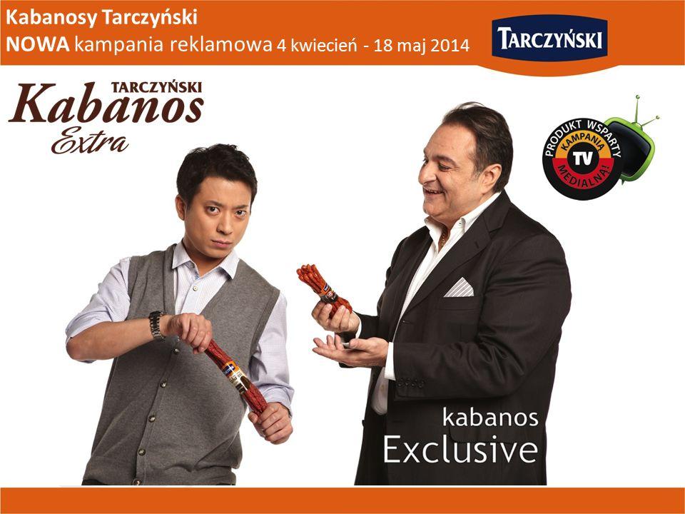 Kabanosy Tarczyński NOWA kampania reklamowa 4 kwiecień - 18 maj 2014