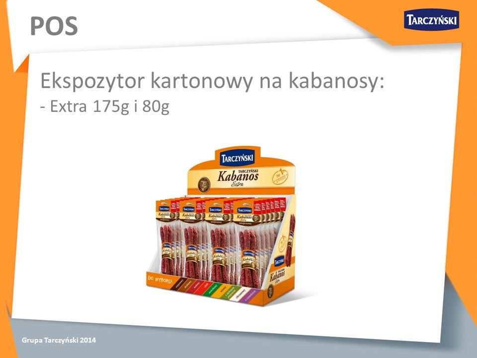 Grupa Tarczyński 2014 POS Ekspozytor kartonowy na kabanosy: - Extra 175g i 80g