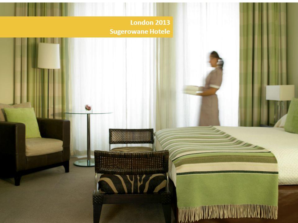 London 2013 Sugerowane Hotele