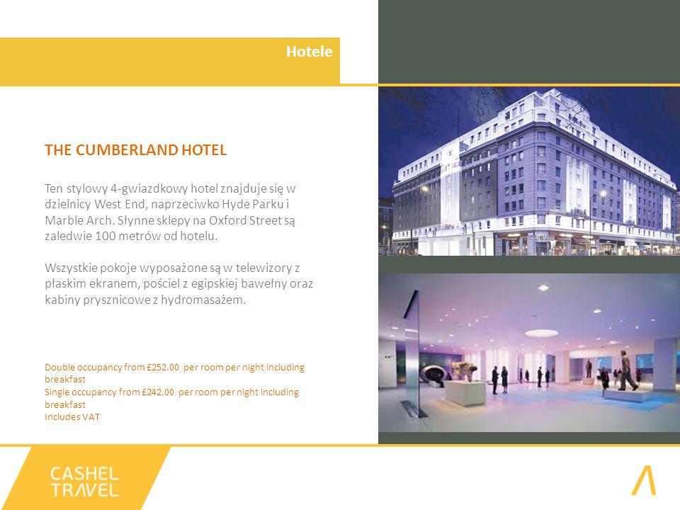Hotele THE CUMBERLAND HOTEL Ten stylowy 4-gwiazdkowy hotel znajduje się w dzielnicy West End, naprzeciwko Hyde Parku i Marble Arch.