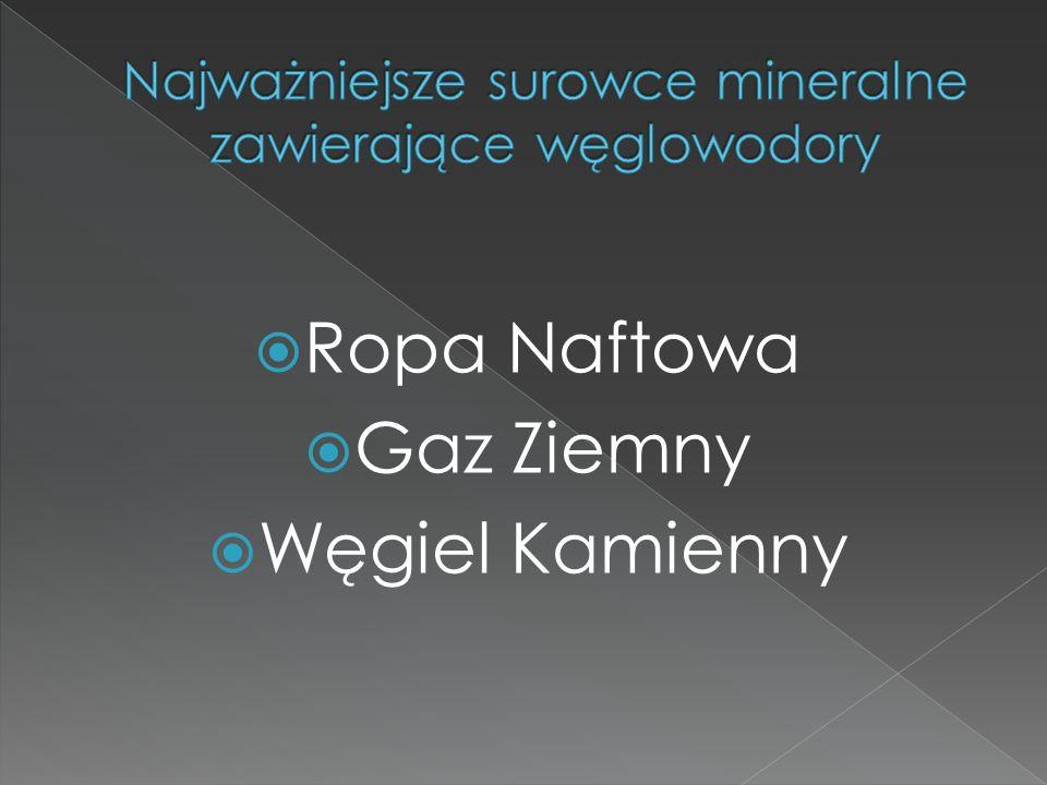  Ropa Naftowa  Gaz Ziemny  Węgiel Kamienny