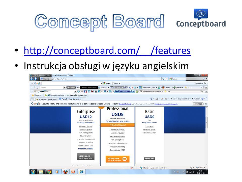 http://conceptboard.com/__/features Instrukcja obsługi w języku angielskim