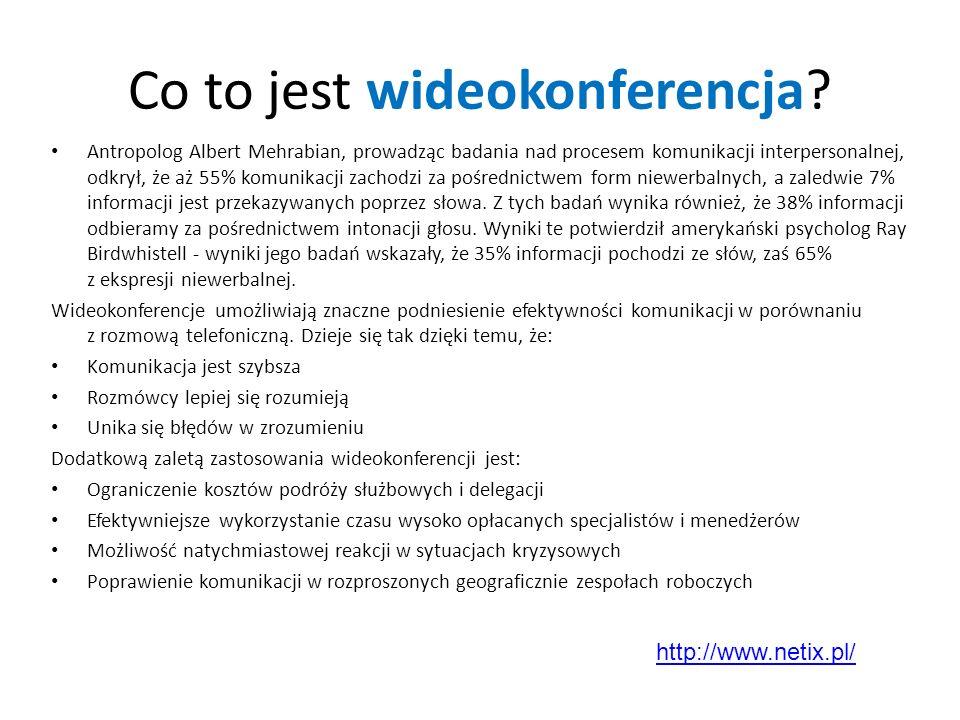 Co to jest wideokonferencja? Antropolog Albert Mehrabian, prowadząc badania nad procesem komunikacji interpersonalnej, odkrył, że aż 55% komunikacji z
