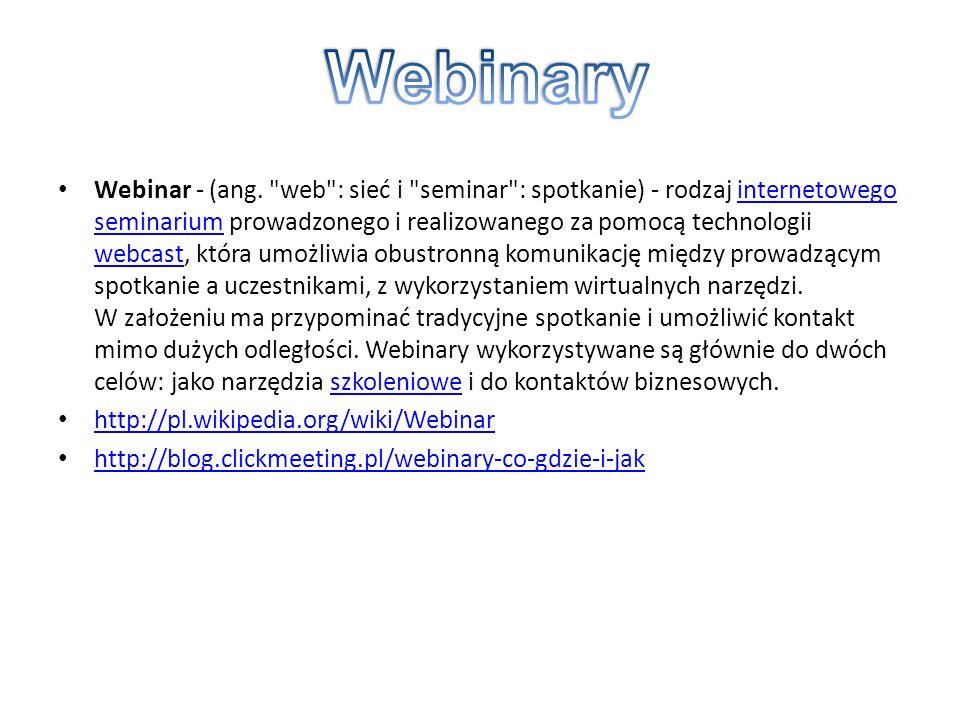 Webinar - (ang.