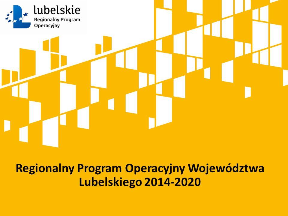 Regionalny Program Operacyjny Województwa Lubelskiego 2014-2020