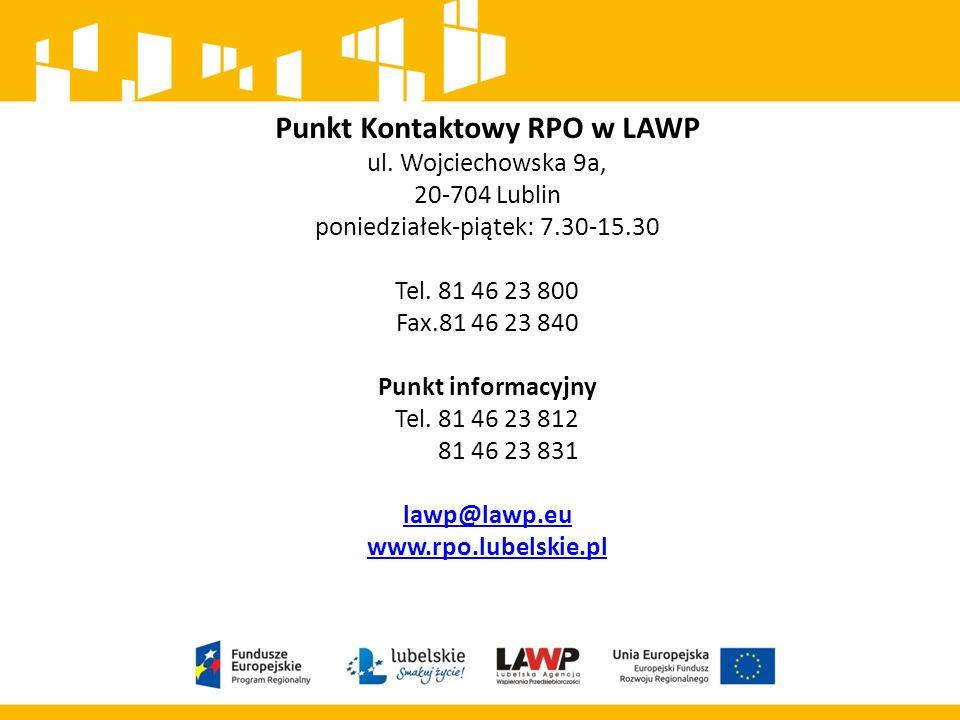 Punkt Kontaktowy RPO w LAWP ul.