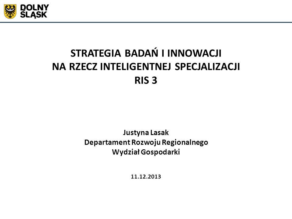Koncepcja inteligentnej specjalizacji (smart specialisation) wg.