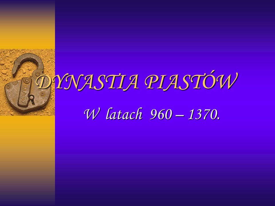 Genealogia Piastów: PRZED ROZBICIEM DZIELNICOWYM:
