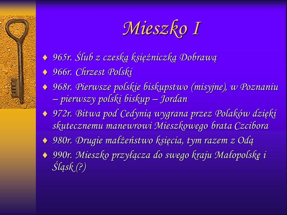 999965r. Ślub z czeską księżniczką Dobrawą 999966r.