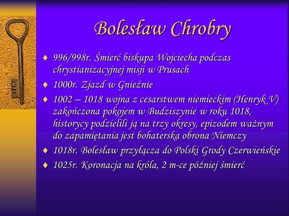 999996/998r. Śmierć biskupa Wojciecha podczas chrystianizacyjnej misji w Prusach 1111000r.