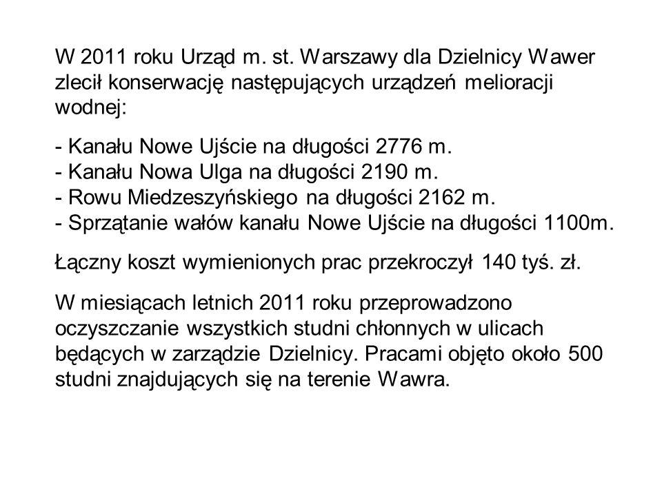 W 2011 roku Urząd m. st.