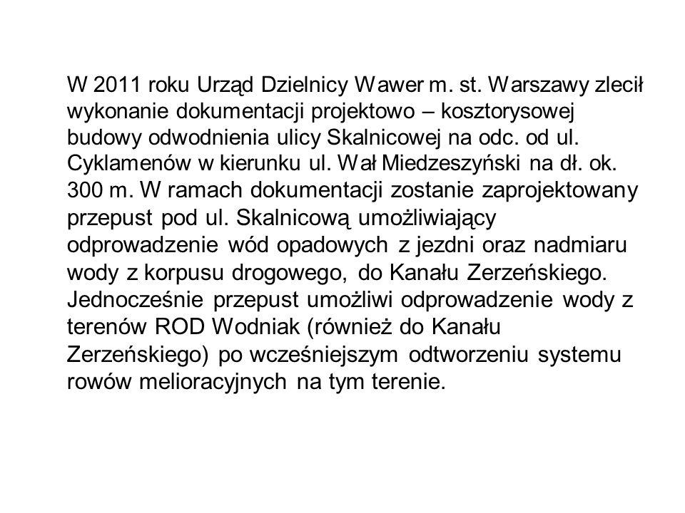 W 2011 roku Urząd Dzielnicy Wawer m. st.