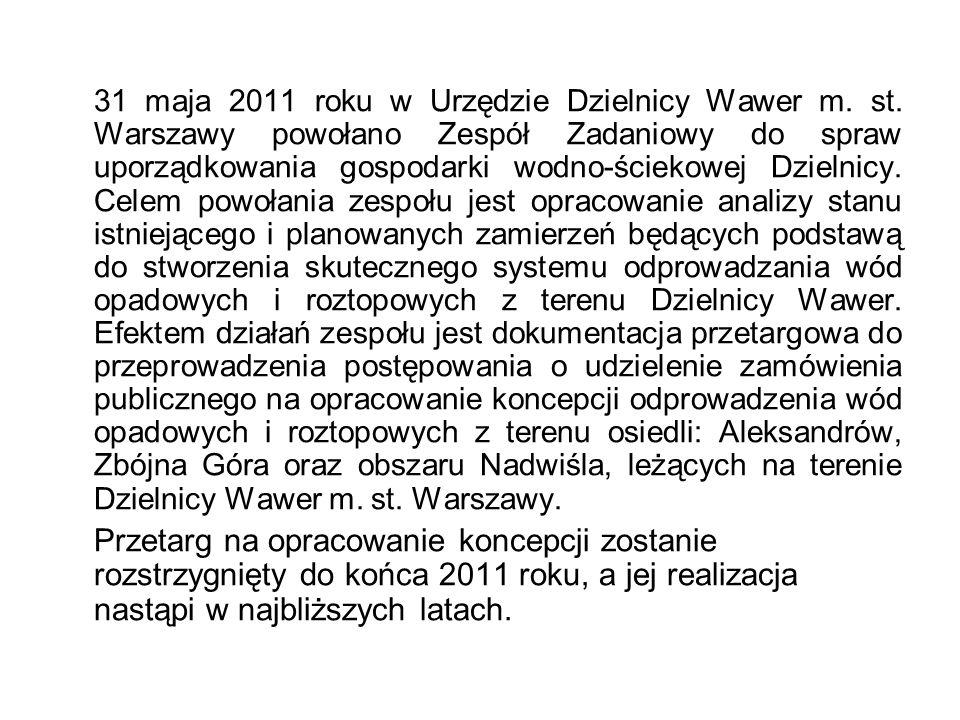 31 maja 2011 roku w Urzędzie Dzielnicy Wawer m. st.