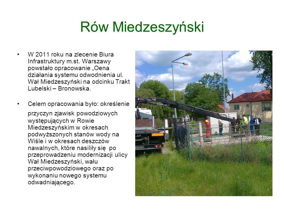 Rów Miedzeszyński W 2011 roku na zlecenie Biura Infrastruktury m.st.