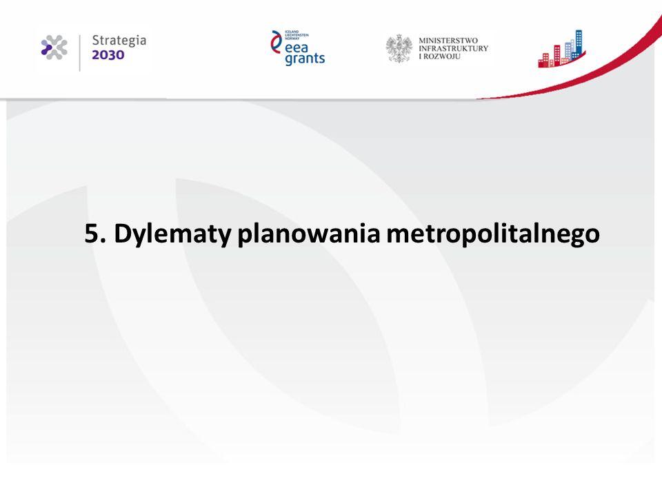 5. Dylematy planowania metropolitalnego
